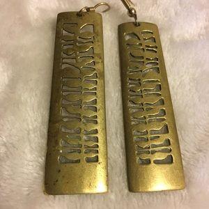 Gorgeous Brass Vintage Earring